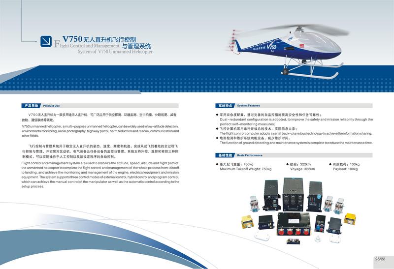 V750无人直升机飞控系统