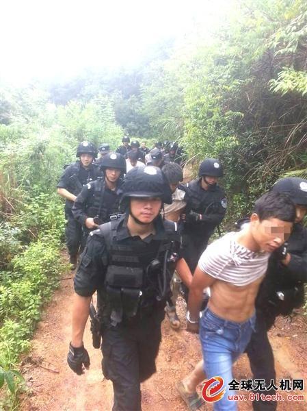 广东警方出动无人飞机侦查毒窝