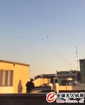伊朗军队炮击不明无人机 被当地社交网络疯传