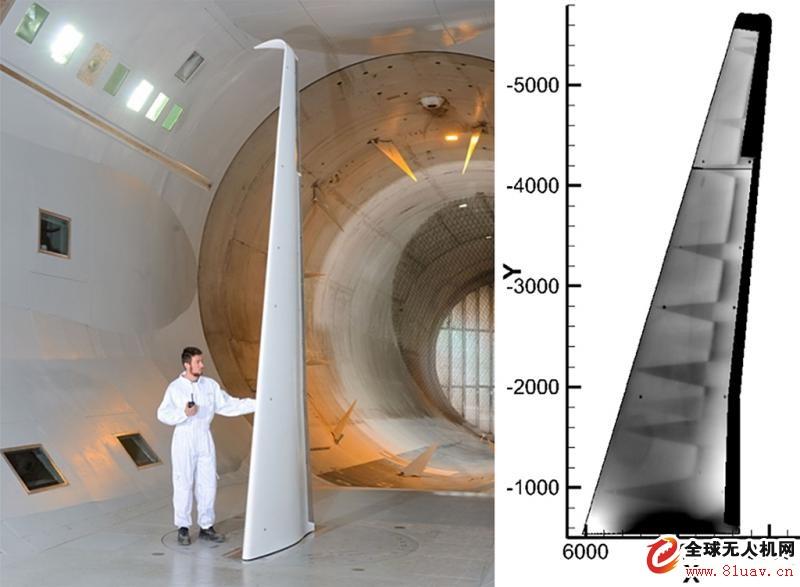 欧洲开展未来支线飞机层流机翼风洞试验