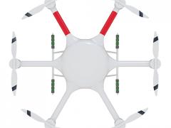 智慧蜂多用途六旋翼无人机840×6 载