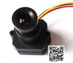 FPV無線圖傳航拍專用CCD高清攝像頭