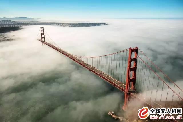 无人机穿云摄影