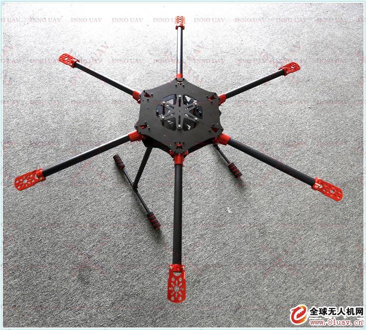 INNO UAV无人机 800mm机架六轴折叠碳纤无人机支架