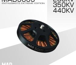 MAD 轻量化多轴旋翼盘式无刷电机 EEE爱好者级别5005