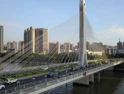 无人机航拍广州羊城石海印大桥通车30年