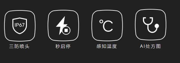 三防喷头 秒启停 感知温度 AI处方图
