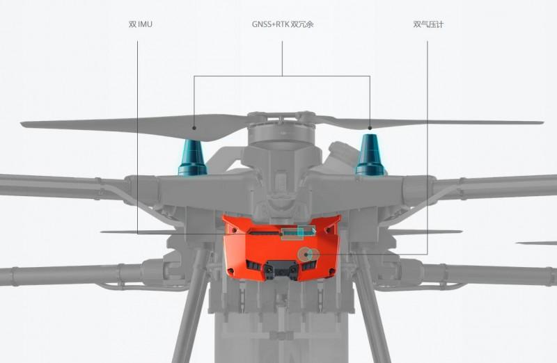 大疆T16植保無人機雙 IMUGNSS+RTK 雙冗余雙氣壓計