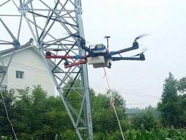 无人机电力线路架设