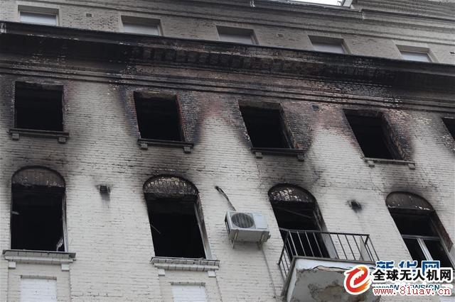 莫斯科市中心大火 消防无人机
