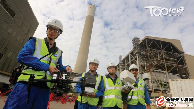 中电引入航拍机快速检查电厂