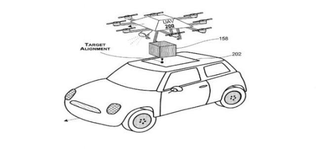 微软无人机专利:一个动态的途中无人机交付系统