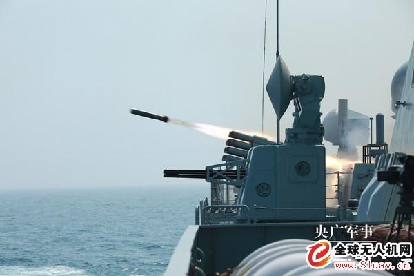 解放军无人机南海训练起降舰艇 疑为腾盾科技「及时雨无人机」