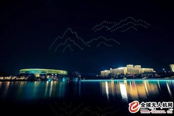 即墨经济开发区无人机编队舞步灯光秀圆满落幕
