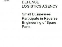 GAO报告:小企业参与美国国防后勤局零部件逆向工程