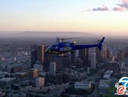 AIR7 HD 直升机在洛杉矶市区上空被物体击中,据说是无人驾驶飞机
