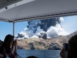 无人机航拍到新西兰白岛火山爆发后的尸体