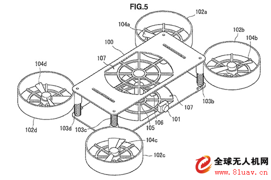 索尼無人機專利文件