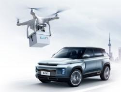 吉利汽车用无人机运送新车钥匙