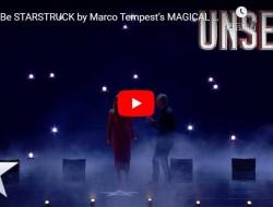 《英国达人秀》的魔术表演中无人机群星闪烁