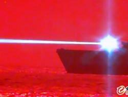 美国海军使用高能舰载激光武器击毁一架无人机