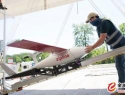 Zipline无人机向美国医院运送物资和个人防护装备