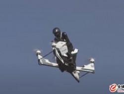 迪拜警察载人无人机在展览期间坠毁