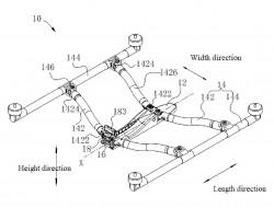 大疆无人机专利:新折叠设计