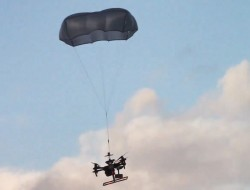 NUAIR对DJI M200系列AVSS无人机降落伞回收系统