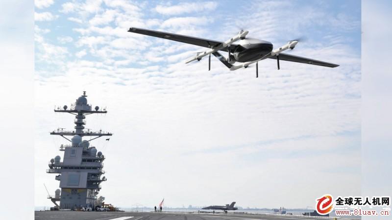 美国海军测试超级航母的自主空中补给无人机